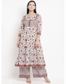 Love More Women Multicoloured Floral Print Kurta with Palazzos