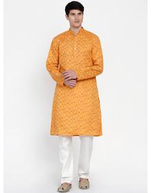 Baawara By Bhama Mustard Kurta with Off White Pajama set