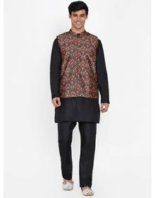 Baawara By Bhama black kurta pajama with jacket set