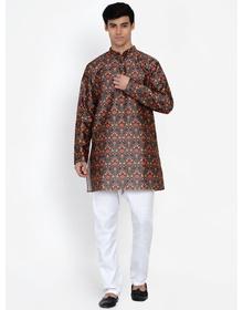 Baawara By Bhama green printed kurta pajama set