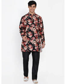 Baawara By Bhama multi floral printed kurta pajama set