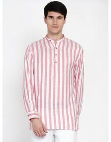 Baawara by Bhama Pink and White stripe kurta