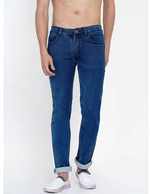 Baawara by Bhama Men Blue  Mid-Rise clean look Stretchable Jeans