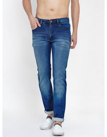 Baawara by Bhama Men Blue shaded Mid-Rise Stretchable Jeans