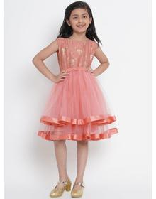 Peach Dresses Bitiya By Bhama