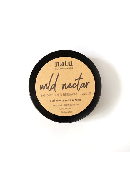 Wild Nectar - Beeswax Coconut Oil Scented Candle Home Fragrance-NTU-NEC