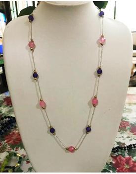 Blush blue necklace
