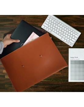 Brown laptop sleeve