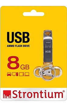 Strontium Ammo 8GB USB Pen Drive (Silver)