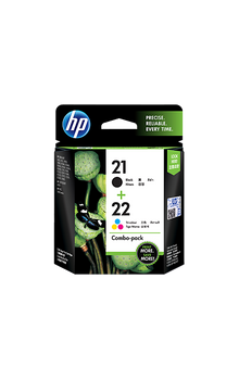 CC630AA HP 21 Black and 22 Tri Colour Ink Cartridge Combo Pack