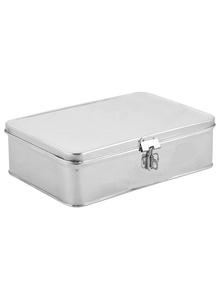 SKEPICK Sky Stainless Steel Cash Box Pooja Box Utility Box