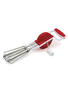 SKEPICK Sky Stainless Steel Dual Spin Manual Egg Beater (Green & Pink)