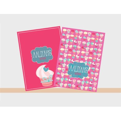 Cupcake Theme Notebook-PPNB05