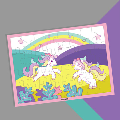 COLOUR-ME-IN  PUZZLE - UNICORN-puzzle3