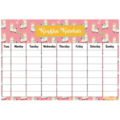 Llama Theme Re-Writable Weekly Planner-PPTM3