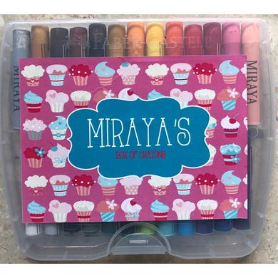 Cupcake Theme Crayon Box-ppcr3