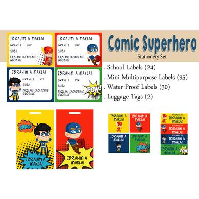 Comic Superhero Theme Label Set-PPLB24