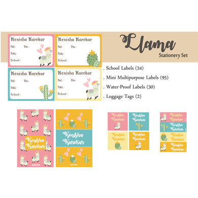 Llama Theme Label Set-PPLB21