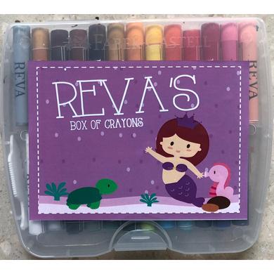 Mermaid Theme Crayon Box-ppcr10