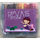 Mermaid Theme Crayon Box-ppcr10-sm