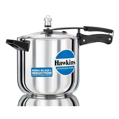 Hawkins Stainless Steel Induction Pressure cooker, 6 Litre(B65)-5255