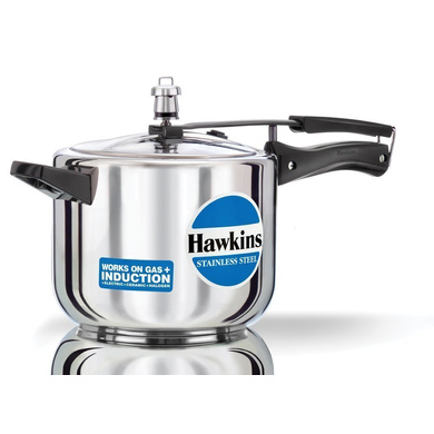 Hawkins Stainless Steel Induction Pressure cooker, 5 Litre(B30)-5251