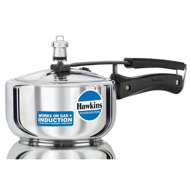 Hawkins Stainless Steel Induction Pressure cooker, 2 Litre(B25)-5250