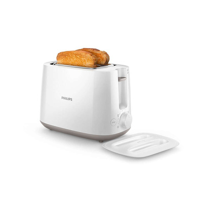Philips Daily Collection HD2582/00 830-Watt 2-Slice Pop-up Toaster (White)-26204
