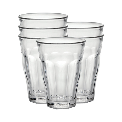 Duralex Picardie water glass 360ml, without filling mark, 6 Glasses-3364