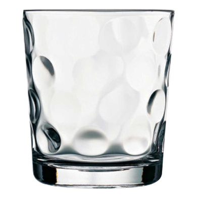 Pasabahce 52903, 8 1/2 oz Whisky Glass, Brandy Whiskey Tumblers, Scotch Curved Glasses with Heavy Ba-4004