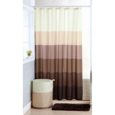 Obsessions Vivid Textile Shower Curtain Chocolate-16728