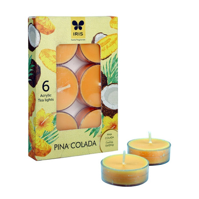 Iris Aroma Wax Candles Yellow, Set of 6-17661