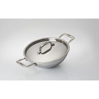 Alda Tri-Ply Stainless Steel Wok Pan with Lid-23186