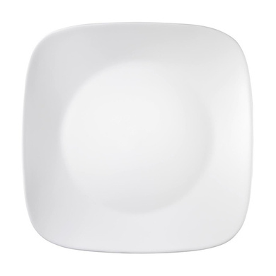 Corelle Winter Frost White Square Dinner Set of 21-3610