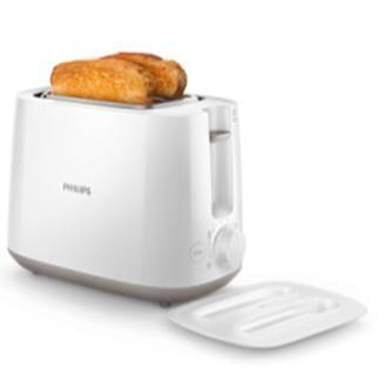 Philips Daily Collection HD2582/00 830-Watt 2-Slice Pop-up Toaster (White)-1