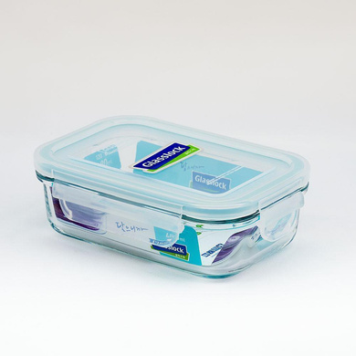 GLASSLOCK RECTANGLE CONTAINER 400ML 1PC-40339