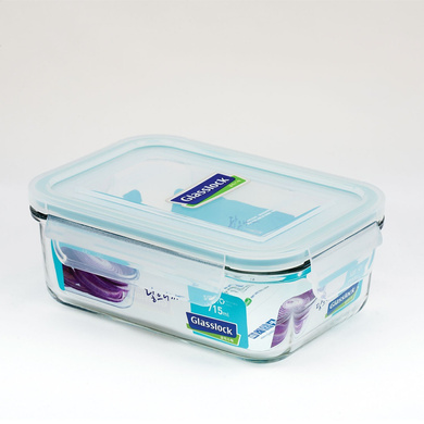 GLASSLOCK RECTANGLE CONTAINER 715ML-40340