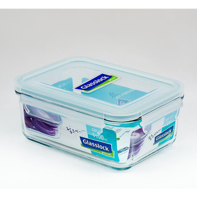 GLASSLOCK RECTANGLE CONTAINER 1100ML 1PC-40342