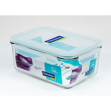 GLASSLOCK RECTANGLE CONTAINER 1900ML 1PC-40343