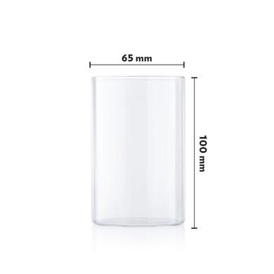 Borosil Vision Medium Glass, 295ml, Set of 6-3