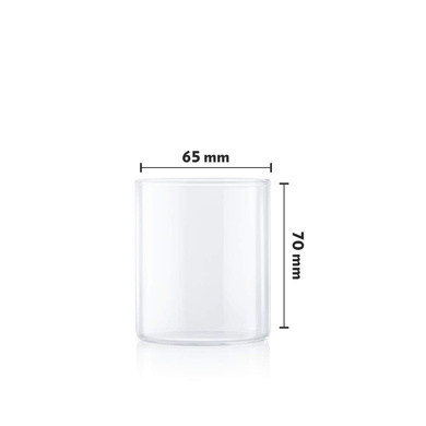 Borosil Vision Small Squat Glass, 205 ml, Set of 6-3