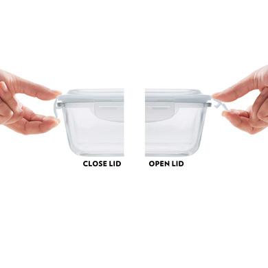 Borosil Glass Universal Lunch Box Set of 4, (2pcs 320 ml sq. + 2pcs 240 ml Round) Microwave Safe Office Tiffin-4