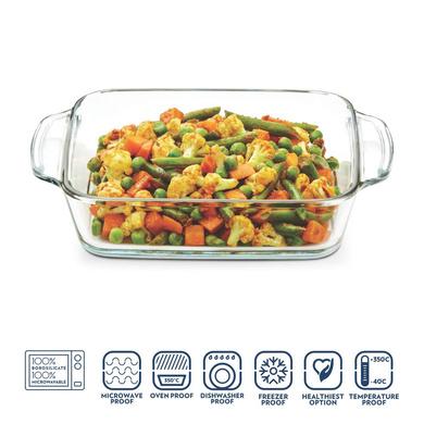 Borosil Square Dish with Handle, 800ml-2