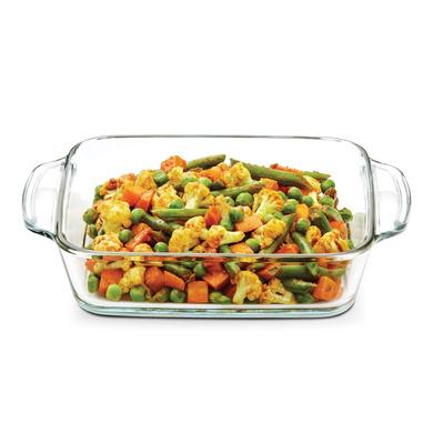 Borosil Square Dish with Handle, 800ml-1