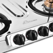 Sunflame Cooktop Spectra Delux 4 Burner Stainless Steel Gas Stove-1-sm