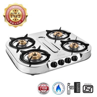 Sunflame Cooktop Spectra Delux 4 Burner Stainless Steel Gas Stove-139