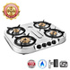 Sunflame Cooktop Spectra Delux 4 Burner Stainless Steel Gas Stove-139-sm