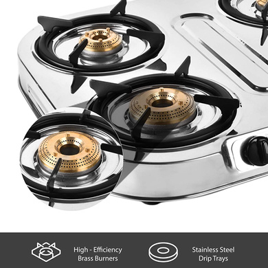 Sunflame Cooktop Spectra Delux 4 Burner Stainless Steel Gas Stove-4
