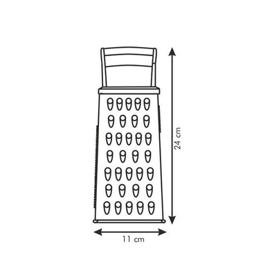 Tescoma Handy 4 Sided Handle Grater 643782-2