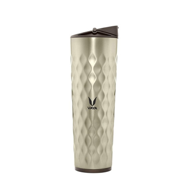 Vaya Drynk 600 ml Vacuum Insulated Stainless Steel Flask, Thermos Sipper Water Bottle (Tumbler+Sipper), Graphite-3